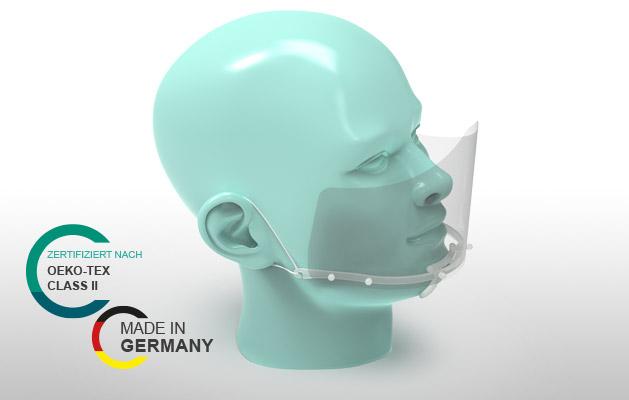 Mund-Nasen-Schutzschilder